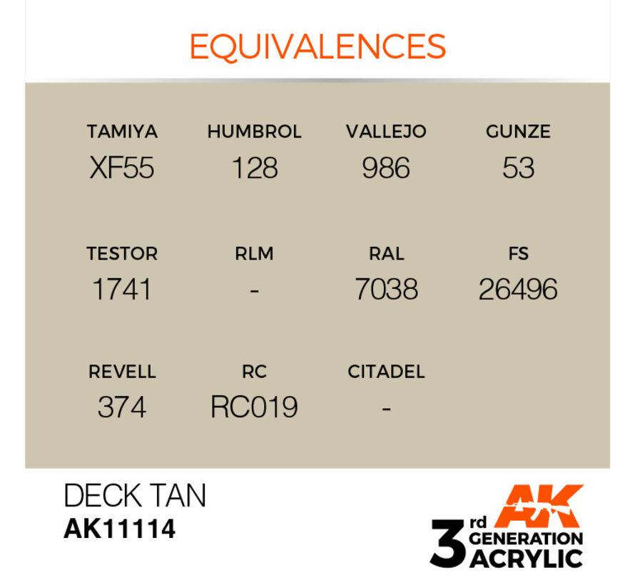 Deck Tan Acrylic Modelling Colors - 17ml - AK11114