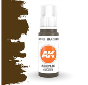 AK interactive Dark Brown Acrylic Modelling Colors - 17ml - AK11109