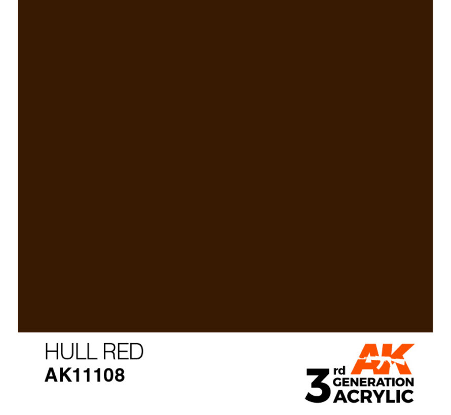 Hull Red Acrylic Modelling Colors - 17ml - AK11108