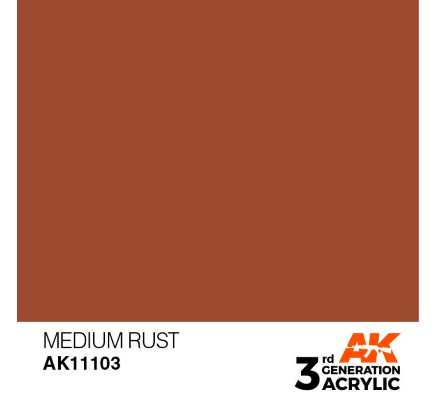 Medium Rust Acrylic Modelling Colors - 17ml - AK11103