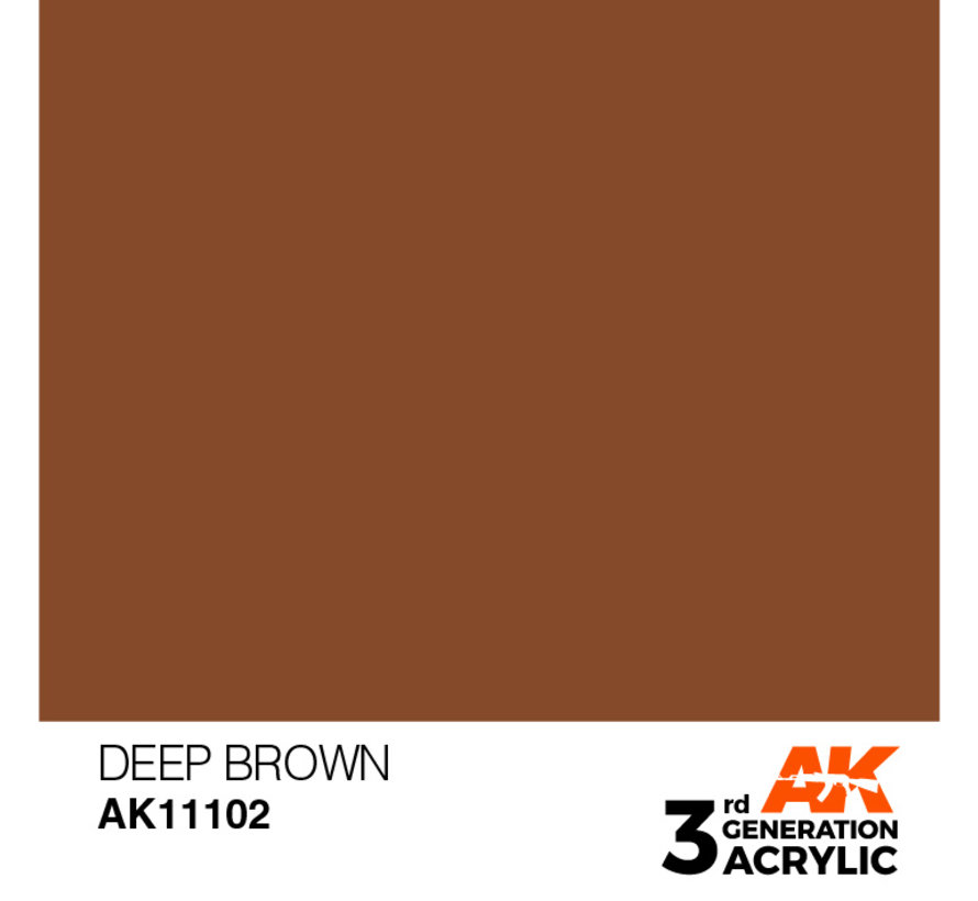 Deep Brown Intense Modelling Colors - 17ml - AK11102