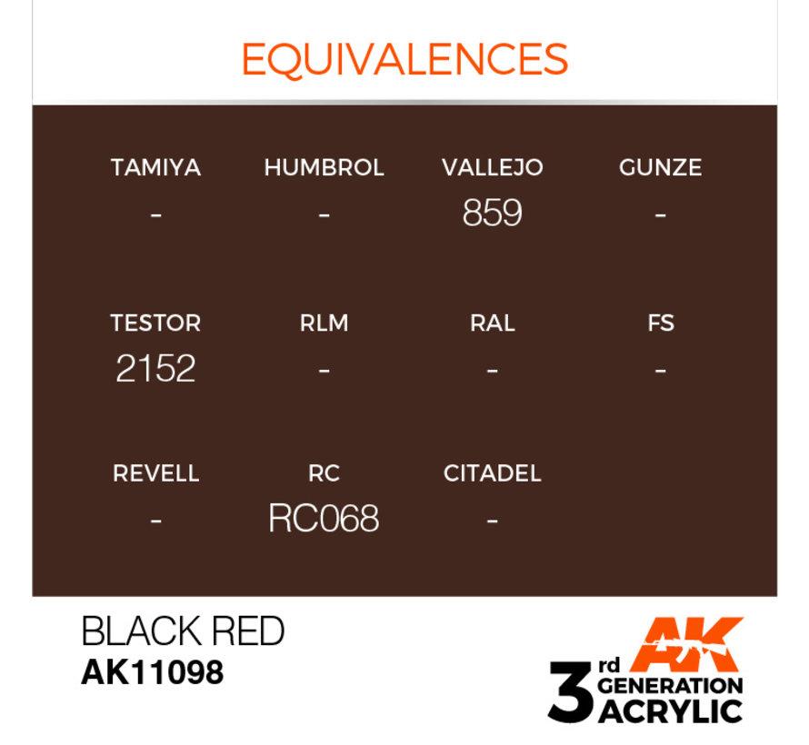 Black Red Acrylic Modelling Colors - 17ml - AK11098