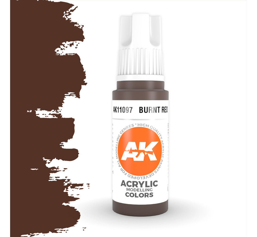Burnt Red Acrylic Modelling Colors - 17ml - AK11097