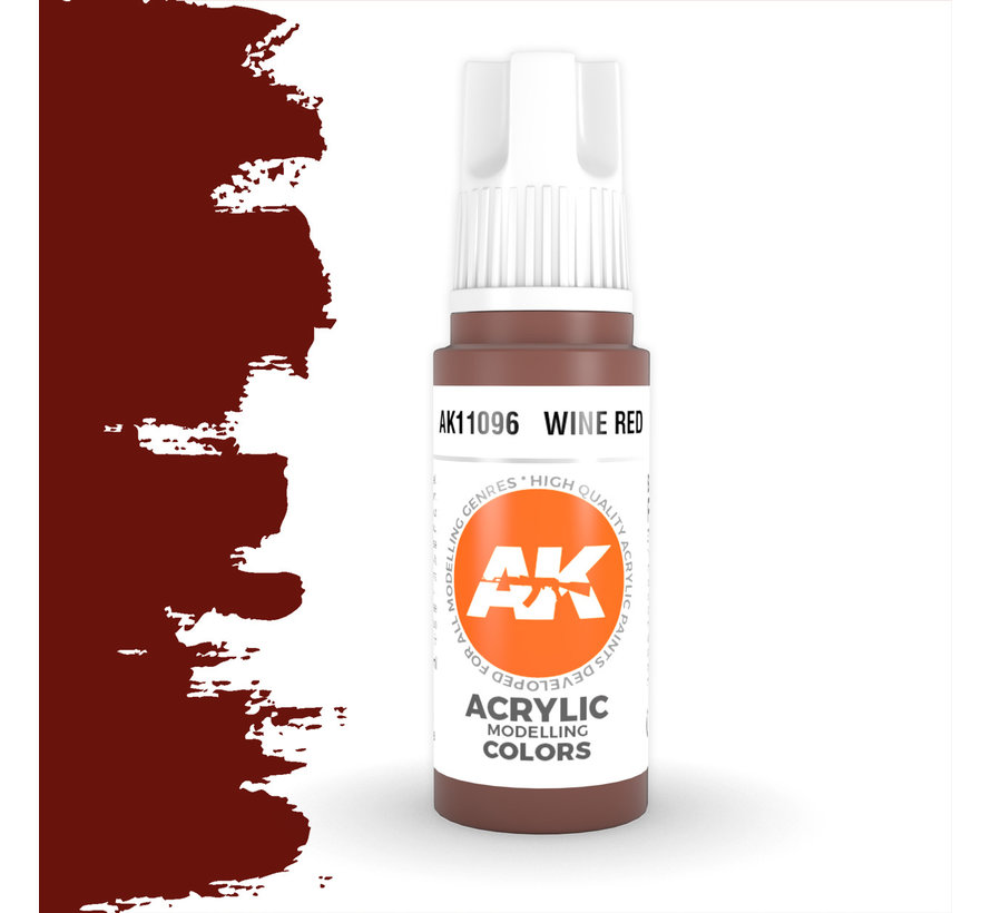Wine Red Acrylic Modelling Colors - 17ml - AK11096