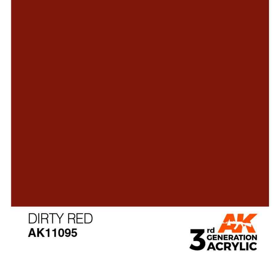 Dirty Red Acrylic Modelling Colors - 17ml - AK11095