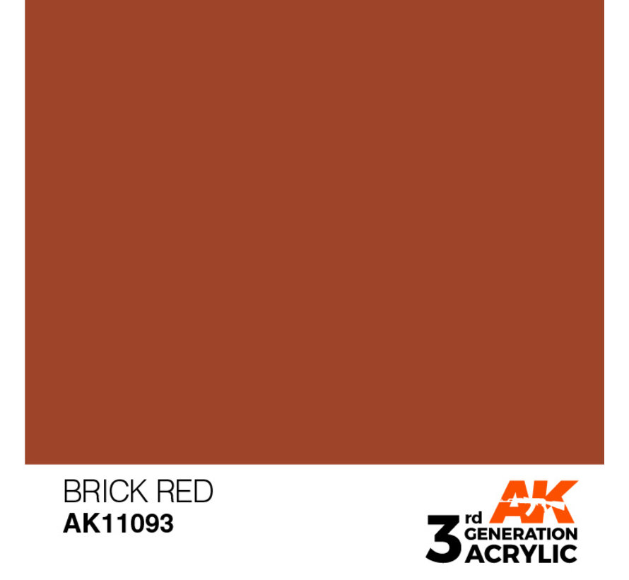 Brick Red Acrylic Modelling Colors - 17ml - AK11093