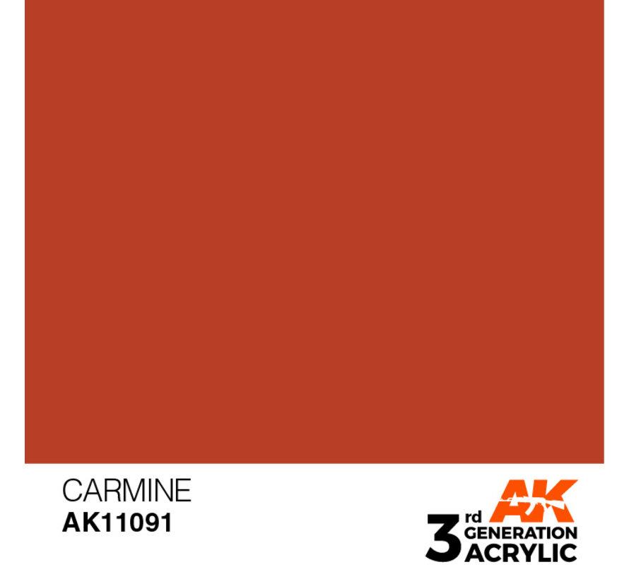 Carmine Acrylic Modelling Colors - 17ml - AK11091