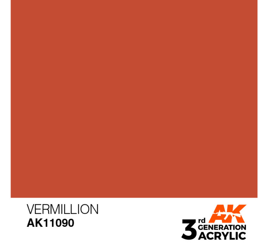 Vermillion Acrylic Modelling Colors - 17ml - AK11090
