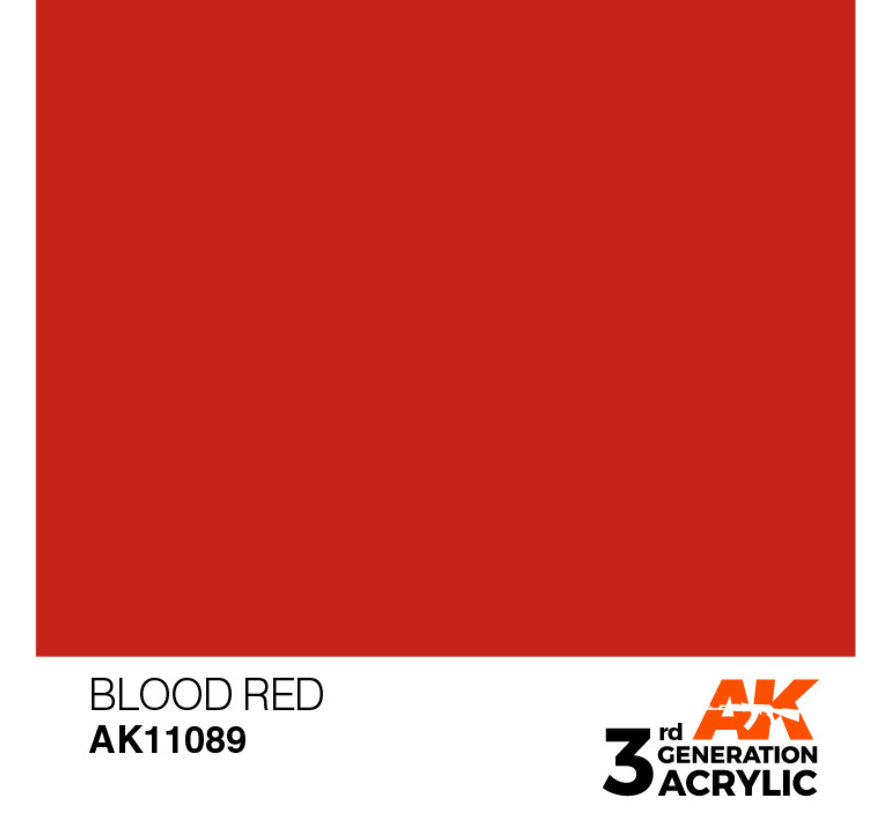 Blood Red Acrylic Modelling Colors - 17ml - AK11089
