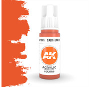 AK interactive Cadmium Red Acrylic Modelling Colors - 17ml - AK11085