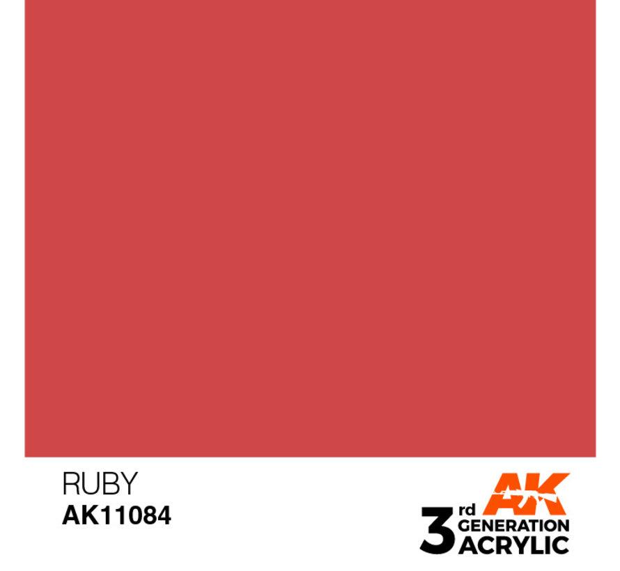 Ruby Acrylic Modelling Colors - 17ml - AK11084