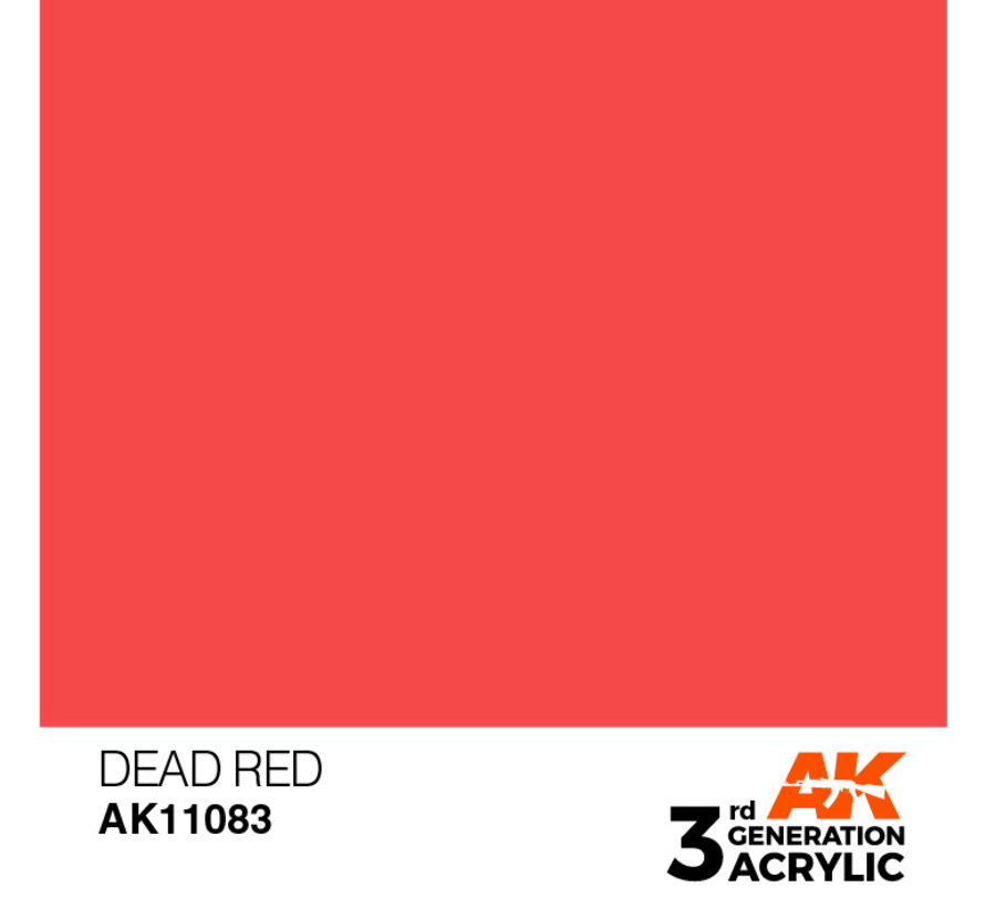 Dead Red Acrylic Modelling Colors - 17ml - AK11083