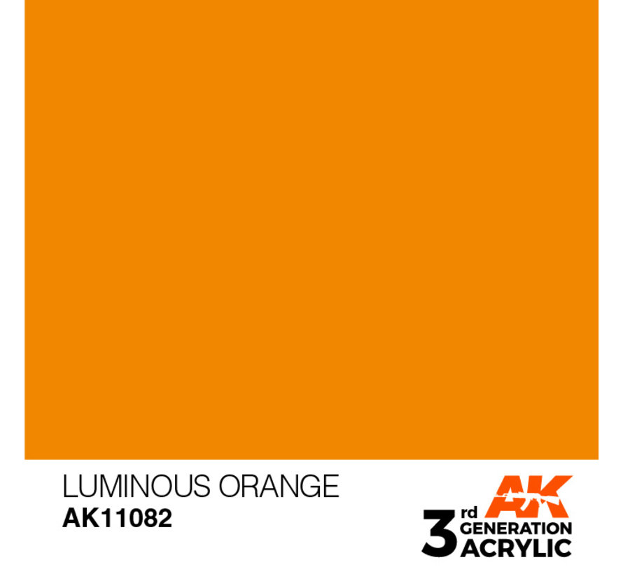 Luminous Orange Acrylic Modelling Colors - 17ml - AK11082