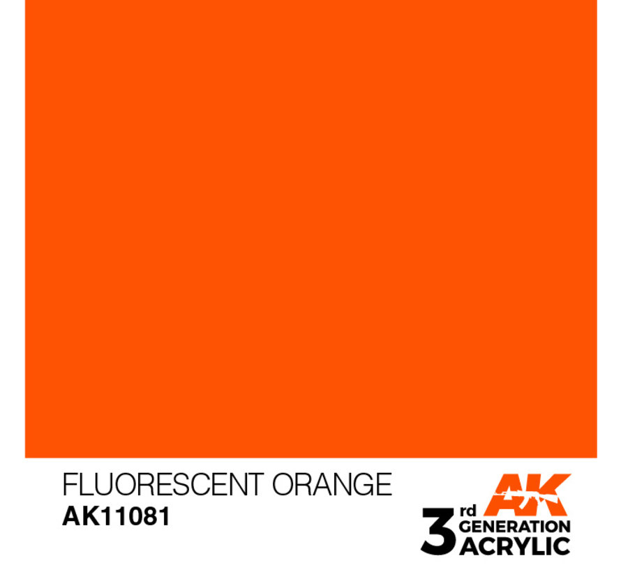 Fluorescent Orange Acrylic Modelling Colors - 17ml - AK11081