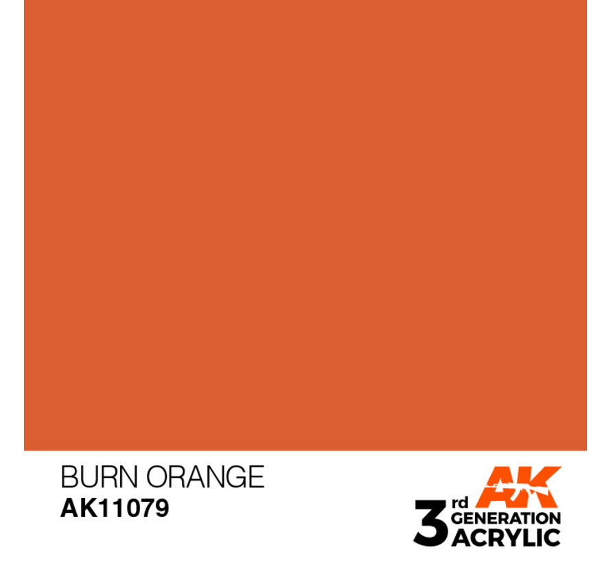 Burn Orange Acrylic Modelling Colors - 17ml - AK11079