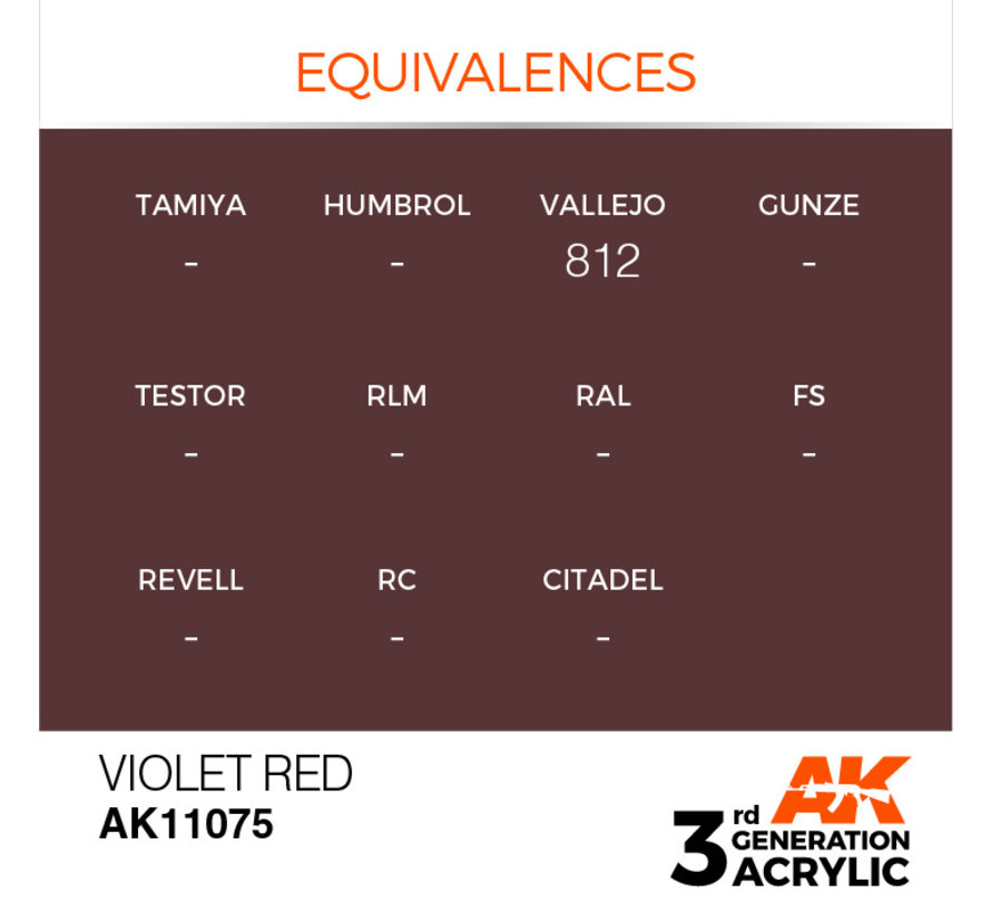 Violet Red Acrylic Modelling Colors - 17ml - AK11075