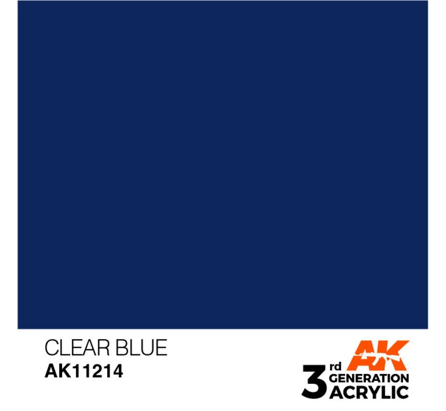 Clear Blue Acrylic Modelling Colors - 17ml - AK11214