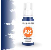 AK interactive Clear Blue Acrylic Modelling Colors - 17ml - AK11214
