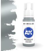 AK interactive Silver Metallic Modelling Colors - 17ml - AK11209