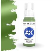 AK interactive Metallic Green Metallic Modelling Colors - 17ml - AK11205