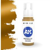 AK interactive Gold Metallic Modelling Colors - 17ml - AK11191