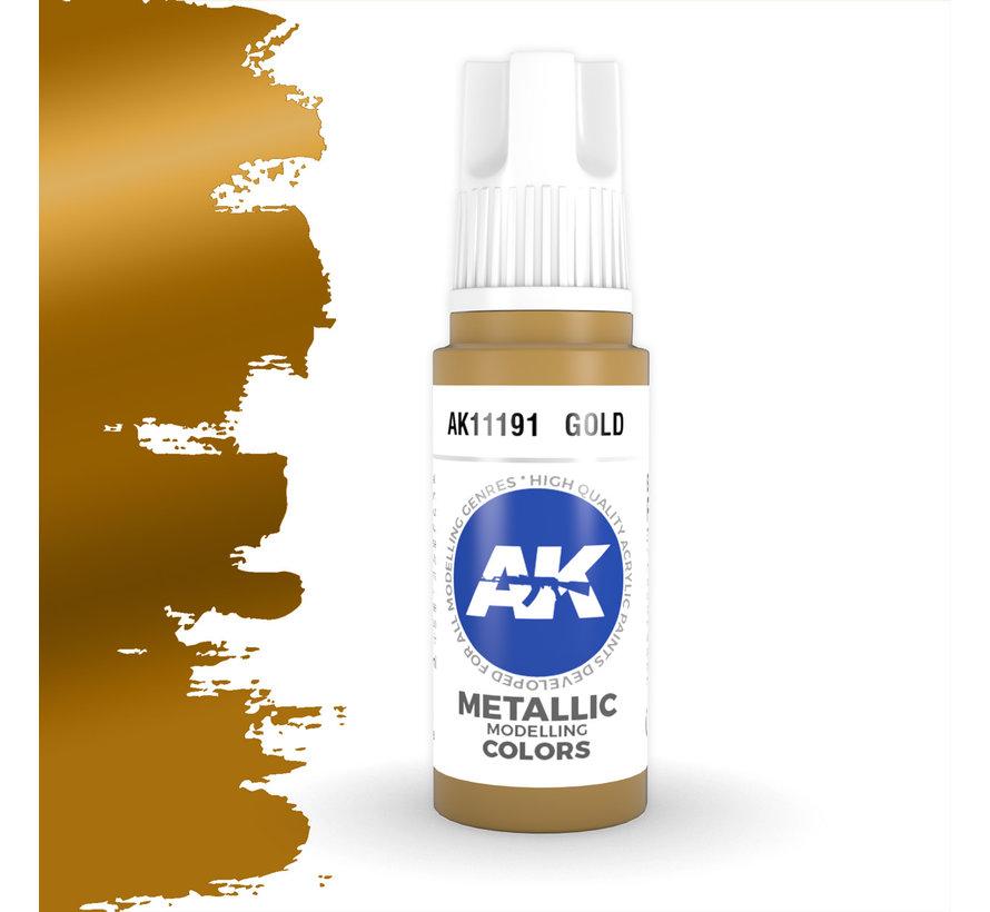 Gold Metallic Modelling Colors - 17ml - AK11191
