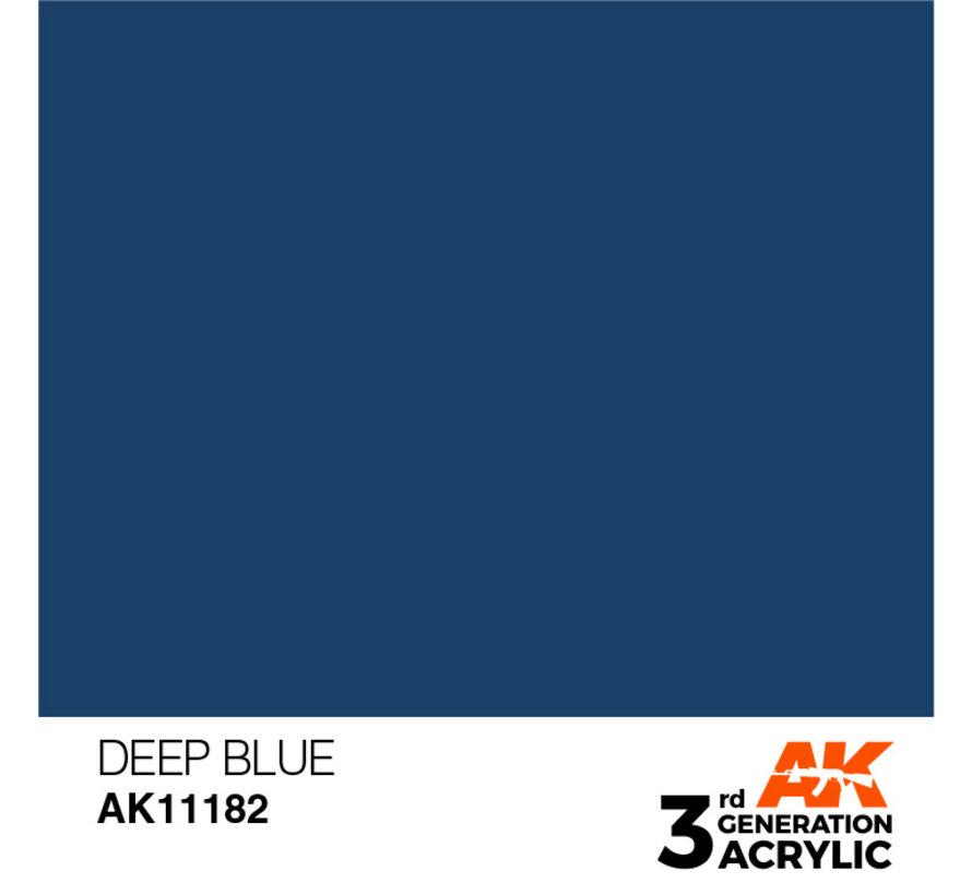 Deep Blue Intense Modelling Colors - 17ml - AK11182