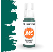 AK interactive Aquatic Turquoise Acrylic Modelling Colors - 17ml - AK11170