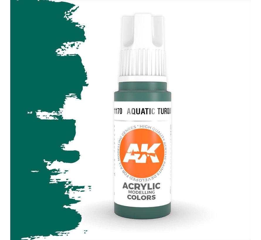 Aquatic Turquoise Acrylic Modelling Colors - 17ml - AK11170