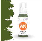 AK interactive Olive Green Acrylic Modelling Colors - 17ml - AK11147