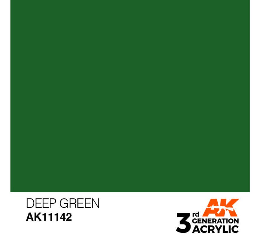Deep Green Intense Modelling Colors - 17ml - AK11142