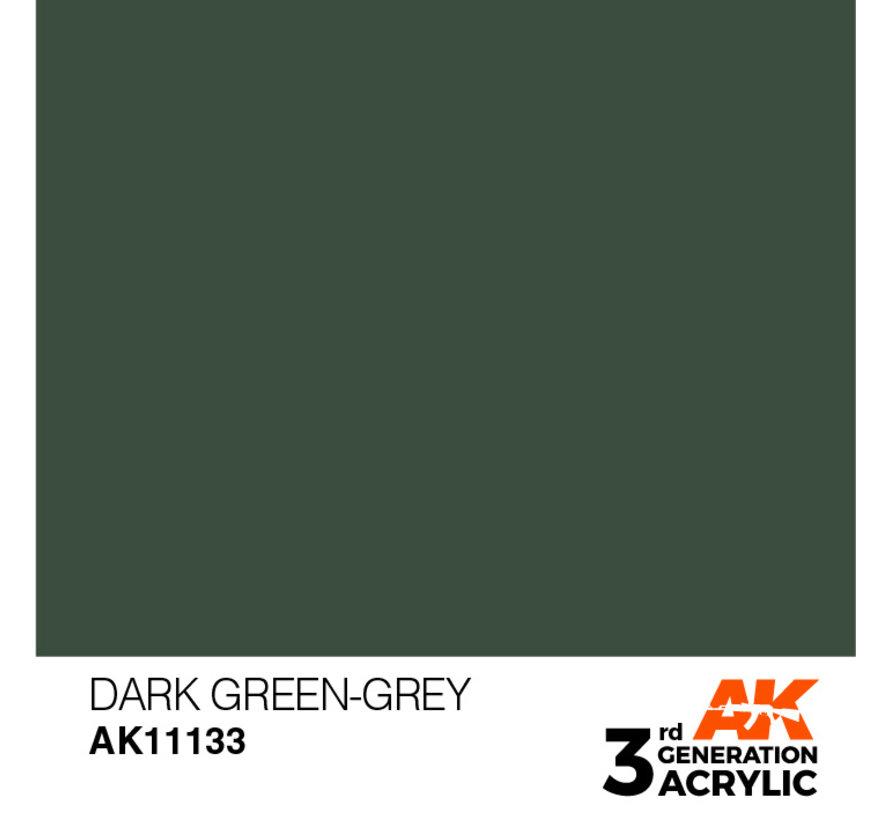 Dark Green Grey Acrylic Modelling Colors - 17ml - AK11133