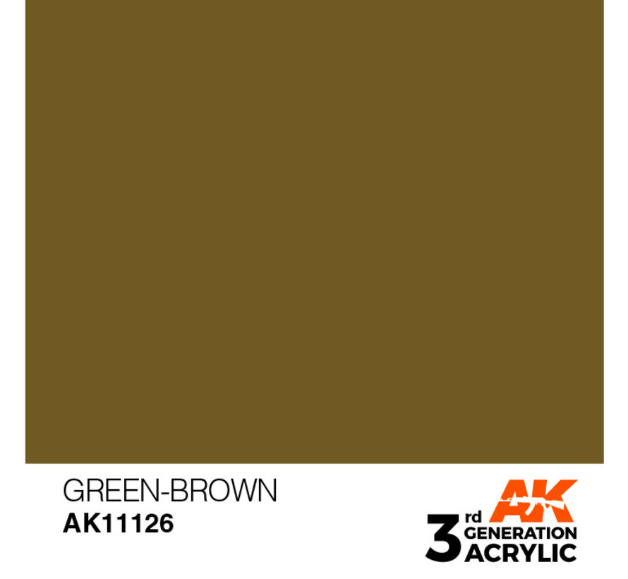 Green Brown Acrylic Modelling Colors - 17ml - AK11126