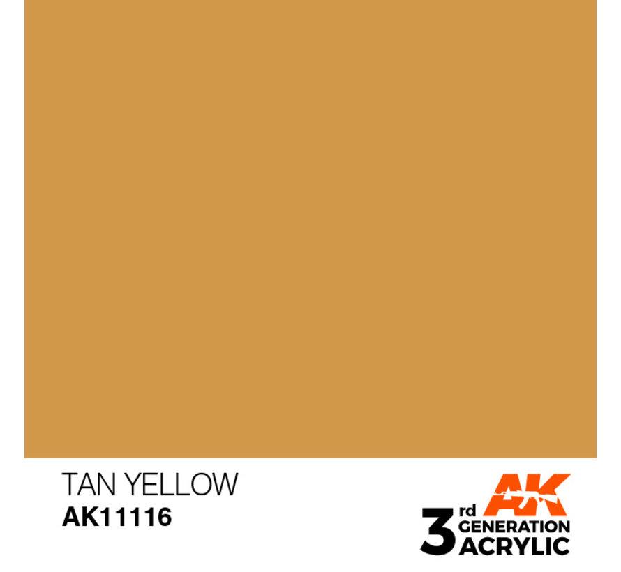 Tan Yellow Acrylic Modelling Colors - 17ml - AK11116