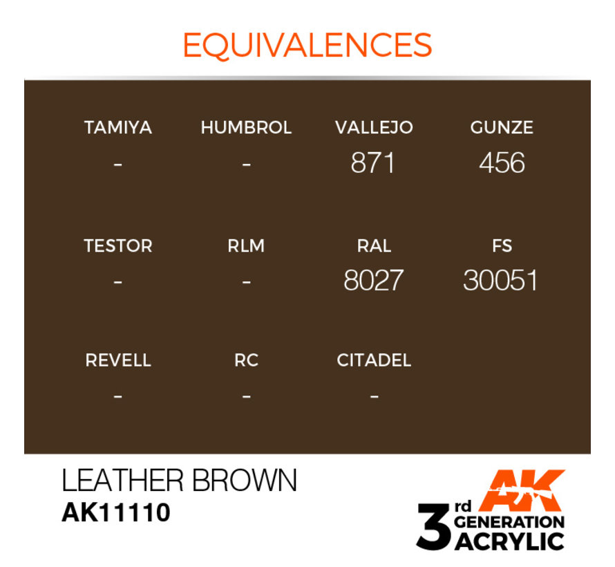 Leather Brown Acrylic Modelling Colors - 17ml - AK11110