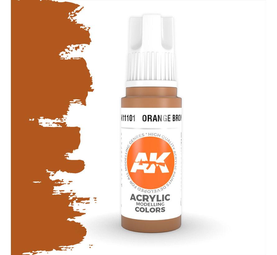 Orange Brown Acrylic Modelling Colors - 17ml - AK11101
