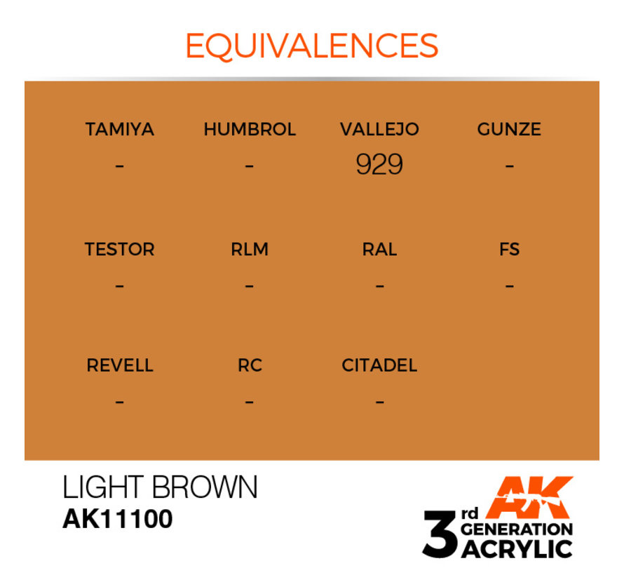 Light Brown Acrylic Modelling Colors - 17ml - AK11100