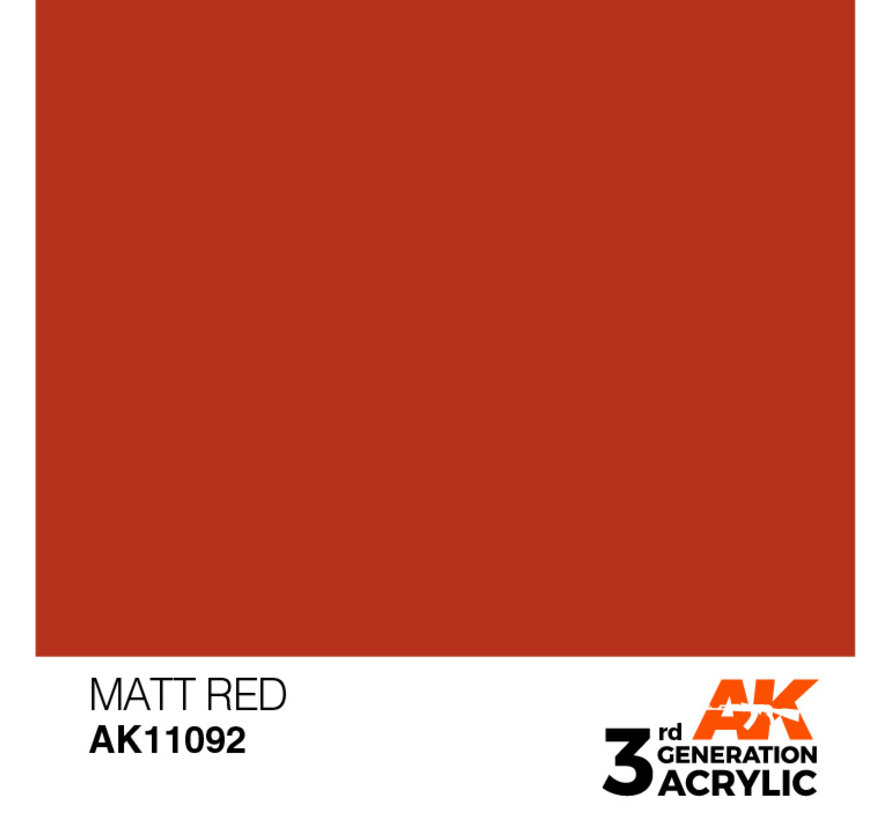 Matt Red Acrylic Modelling Colors - 17ml - AK11092