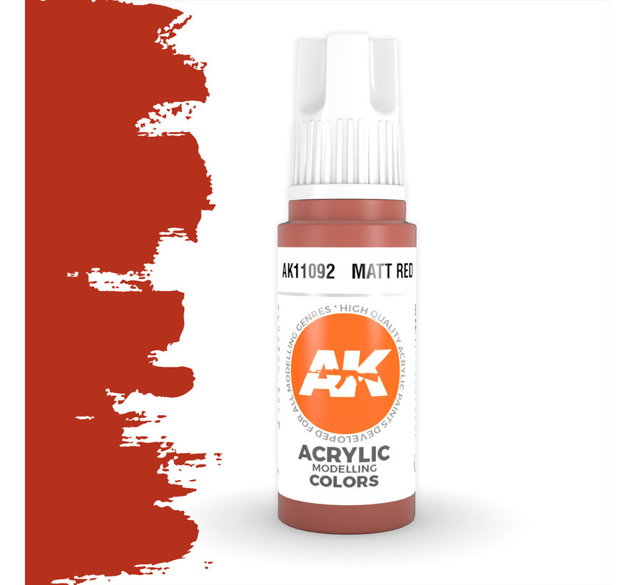 Matt Red Acrylic Modelling Colors - 17ml - AK11092