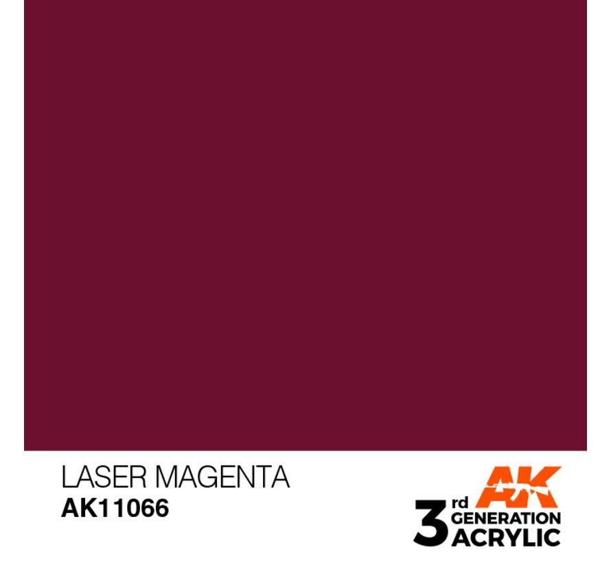 Laser Magenta Acrylic Modelling Colors - 17ml - AK11066