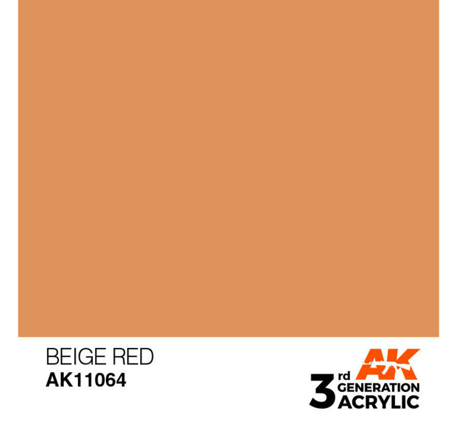 Beige Red Acrylic Modelling Colors - 17ml - AK11064