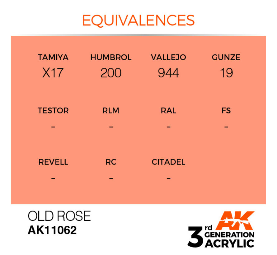 Old Rose Acrylic Modelling Colors - 17ml - AK11062