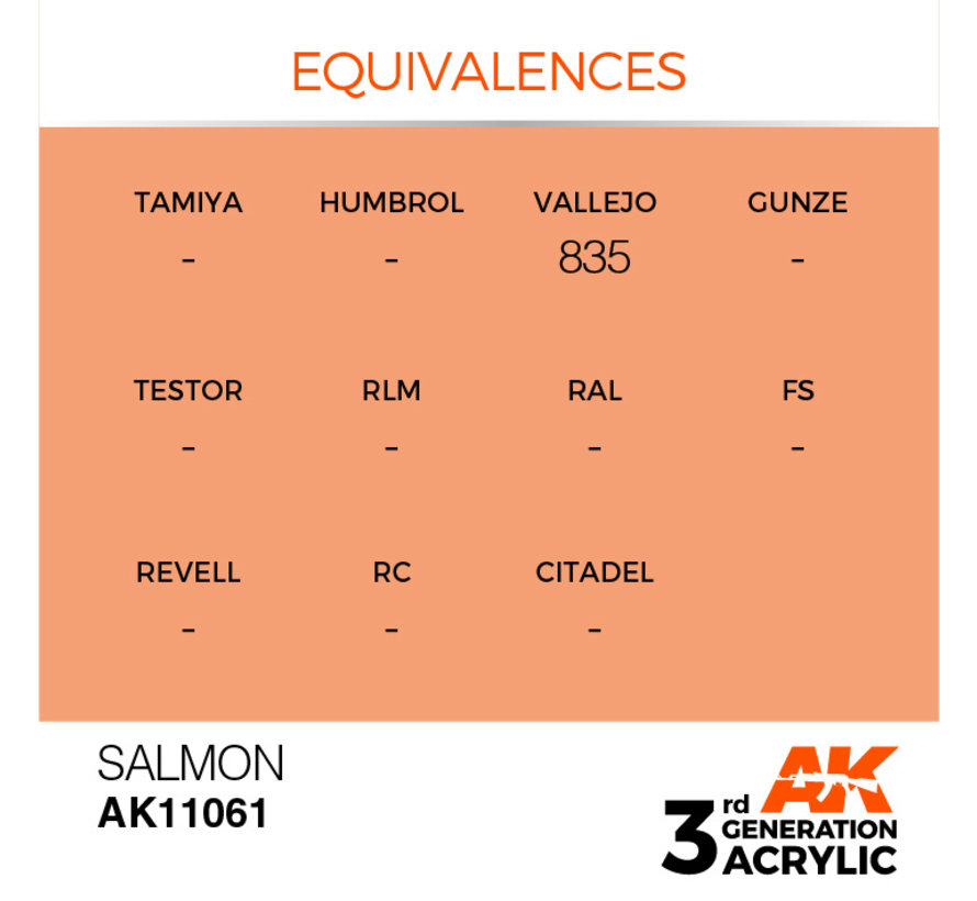 Salmon Acrylic Modelling Colors - 17ml - AK11061