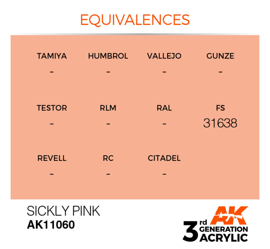 Sickly Pink Acrylic Modelling Colors - 17ml - AK11060