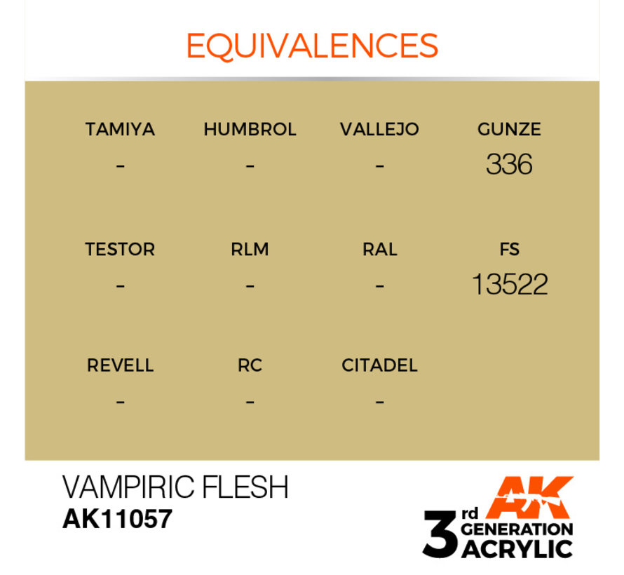 Vampiric Flesh Acrylic Modelling Colors - 17ml - AK11057