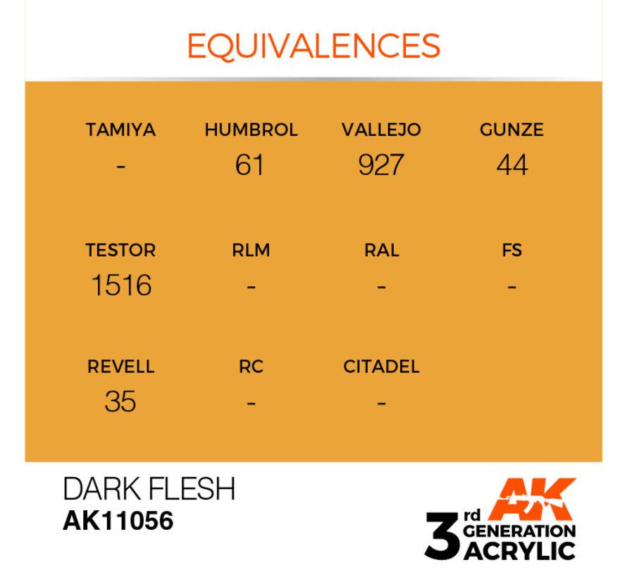 Dark Flesh Acrylic Modelling Colors - 17ml - AK11056