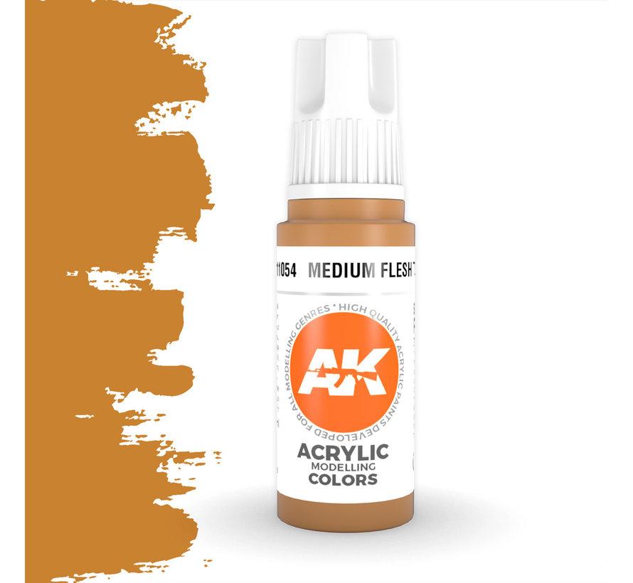 Medium Flesh Tone Acrylic Modelling Colors - 17ml - AK11054