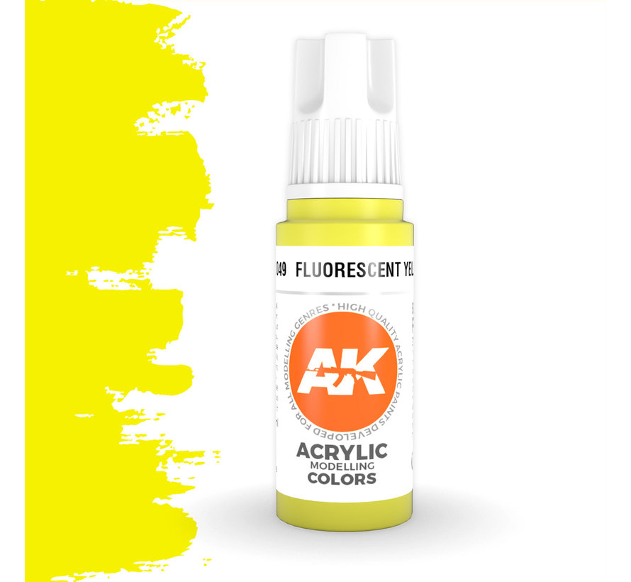 Fluorescent Yellow Acrylic Modelling Colors - 17ml - AK11049