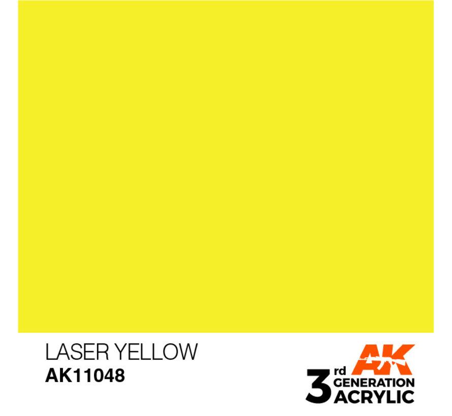 Laser Yellow Acrylic Modelling Colors - 17ml - AK11048