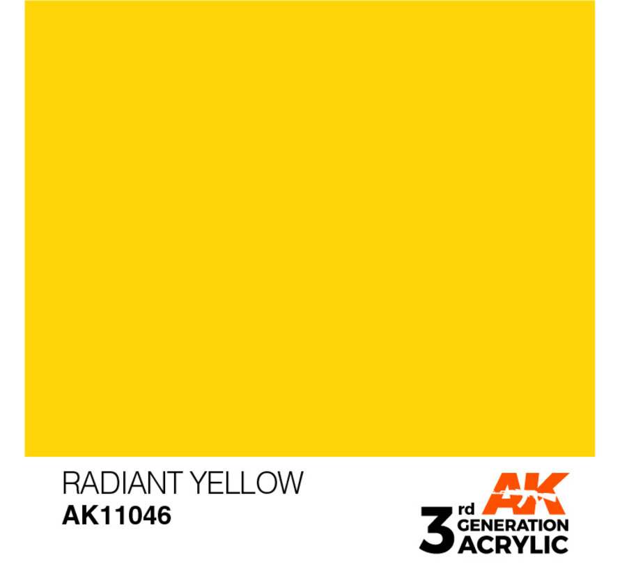 Radiant Yellow Acrylic Modelling Colors - 17ml - AK11046